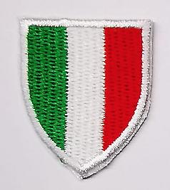 4 TOPPE PATCH RICAMATE TERMOADESIVE KIT ITALIA BANDIERA
