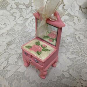 Dolls Pink Dresser Chair Or Ornament