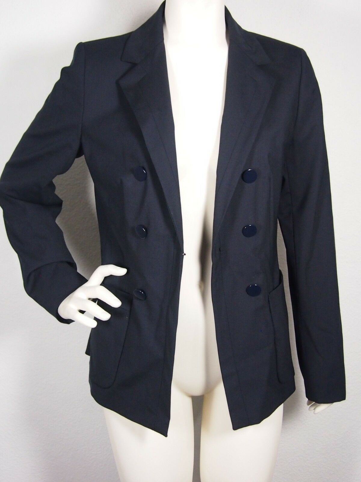 WEEKEND BY MAXMARA Anfora Faux Double Breast Blazer Navy Sz 12 Reg 475.00