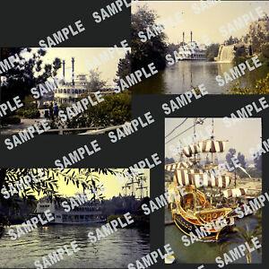 Vintage-Lot-of-4-Disneyland-Slides-Mark-Twain-Riverboat-Chicken-of-Sea-Pirate