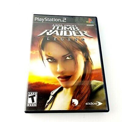 Sony Playstation 2 Ps2 Lara Croft Tomb Raider Legend W Case Ebay