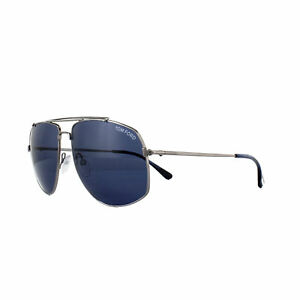 ac022a9dcc9d Tom Ford Sunglasses 0496 Georges 14V Shiny Light Ruthenium Blue ...
