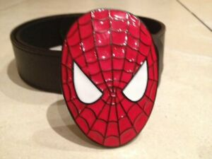 Amazing-Spider-man-face-Buckle-FREE-BELT-cosplay-Avengers-web-spinner-head-NEW