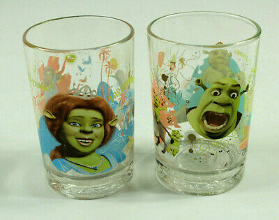 McDonald/'s Dreamworks 2007 SHREK THE THIRD Set Glasses Tumblers Mint 4