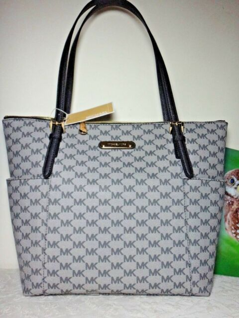 4da812ebcf0d Michael Kors Jet Set Item LG Logo EW TZ Tote Black for sale online ...