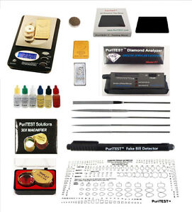 Jewelry & Watches Coins & Paper Money Efficient Gold/silver Test Acid Tester Kit 10k 14k .999 .925 Sterling Testing Stone Detect Easy To Use