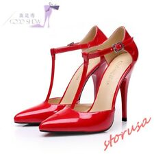 91ca7784a9f Nine West Anistono Patent Ruby Red High HEELS Sandals Shoes Size 7.5 ...