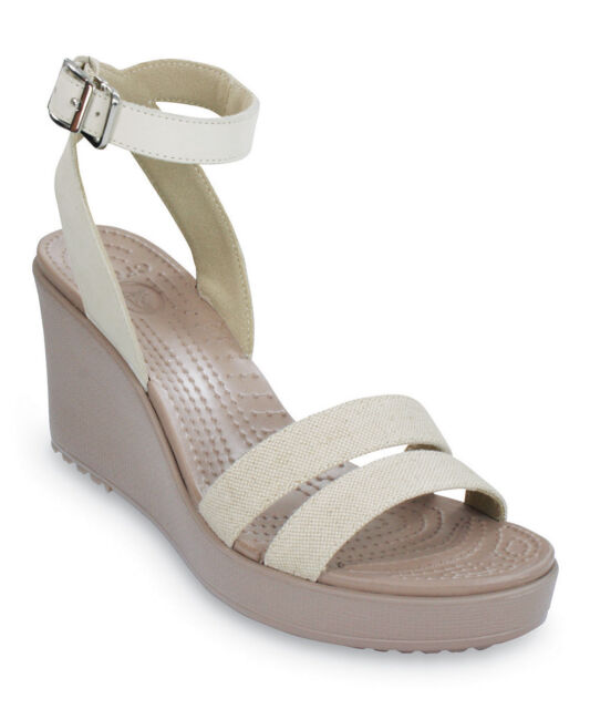 2a44a87d0f74 Crocs Leigh Women US 10 Ivory Wedge Sandal Defect 19616 for sale ...