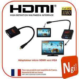NGI-1080P-micro-HDMI-Male-vers-VGA-Femelle-Video-Convertisseur-Adaptateur