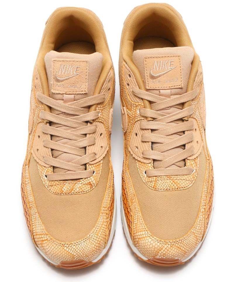 Nike Max 90 Premium Cuero Vanchetta Air tan Raro y oro AH8046-200 Raro tan 281b0a