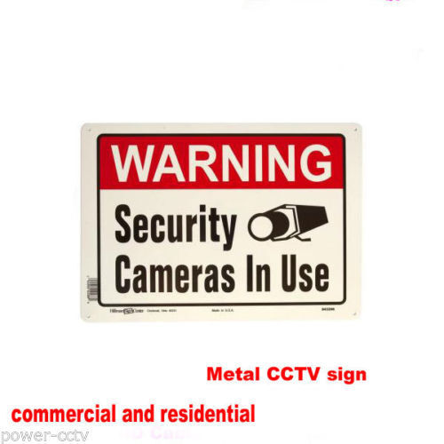 Surveillance Accessories Sign Metal Indoor Outdoor Security Camera System IP NVR