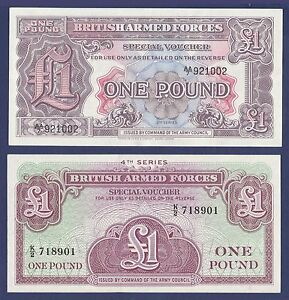 Great Britain 1962 1 Pound Military Note UNC Armed Forces