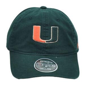 NCAA-Zephyr-Miami-Hurricanes-Bastones-Verde-Ajustable-Relajado-Gorro-Flexible