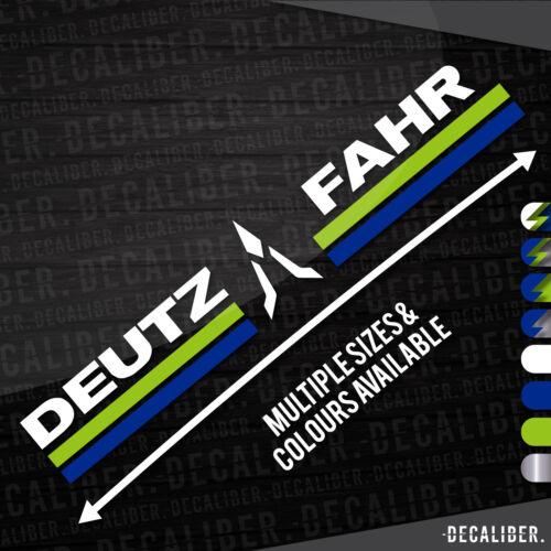 Deutz Fahr Badge Sunstrip Decal Window Sticker Multiple Sizes /& Colours