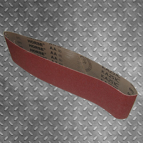 100mm x 915mm LINISHING SANDING BELTS 40 GRIT 10pce