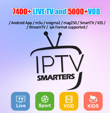 IPTV Subscription Lifetime (for Smart TV IOS Android Mag M3u