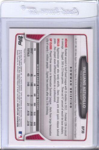 Willians Astudillo Pop-Up List 2013 Bowman Cards Qty Disc 40/%-60/%