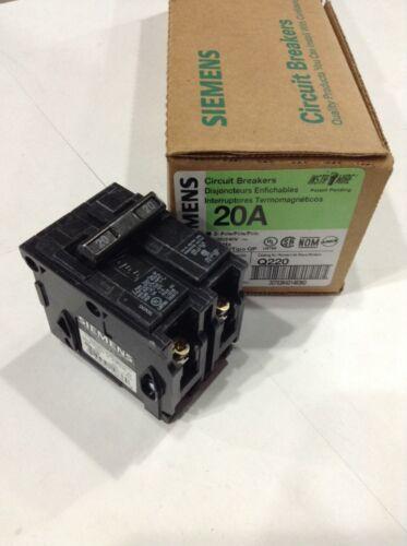 Q220 Siemens Circuit Breaker 2 Pole 20 Amp 120//240V Box Of 6 New