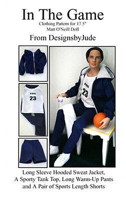 SportsWear Doll Clothes Sewing Pattern for Matt Rufus Sean Tonner