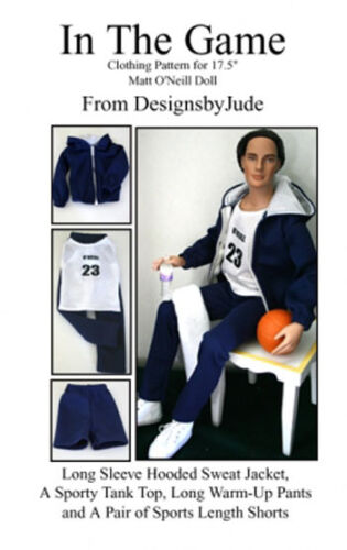 SportsWear Doll Clothes Sewing Pattern for Matt Rufus Sean Tonner