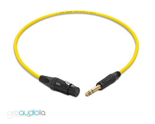 Canare Quad Cable L-4E6SNeutrik Gold XLR-F TRSYellow 3 Feet3 Ft.3/'