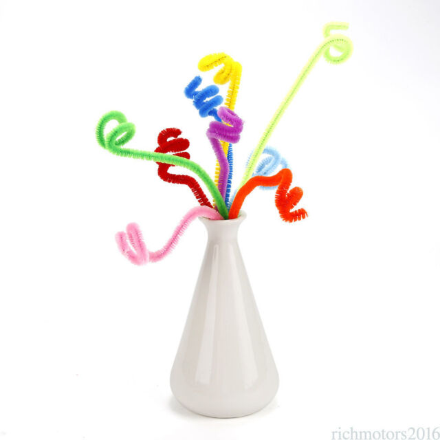 Pipe Cleaners Chenille Stems 30cm  10 Colours Mixed  Kids Fun 100 Pcs T5R