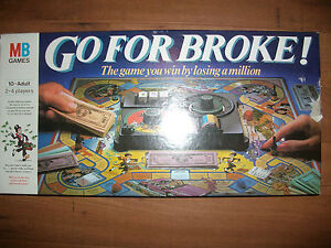 Go For Broke Game Spare Pieces Parts Money etc Choose from List MB 1985 Edition