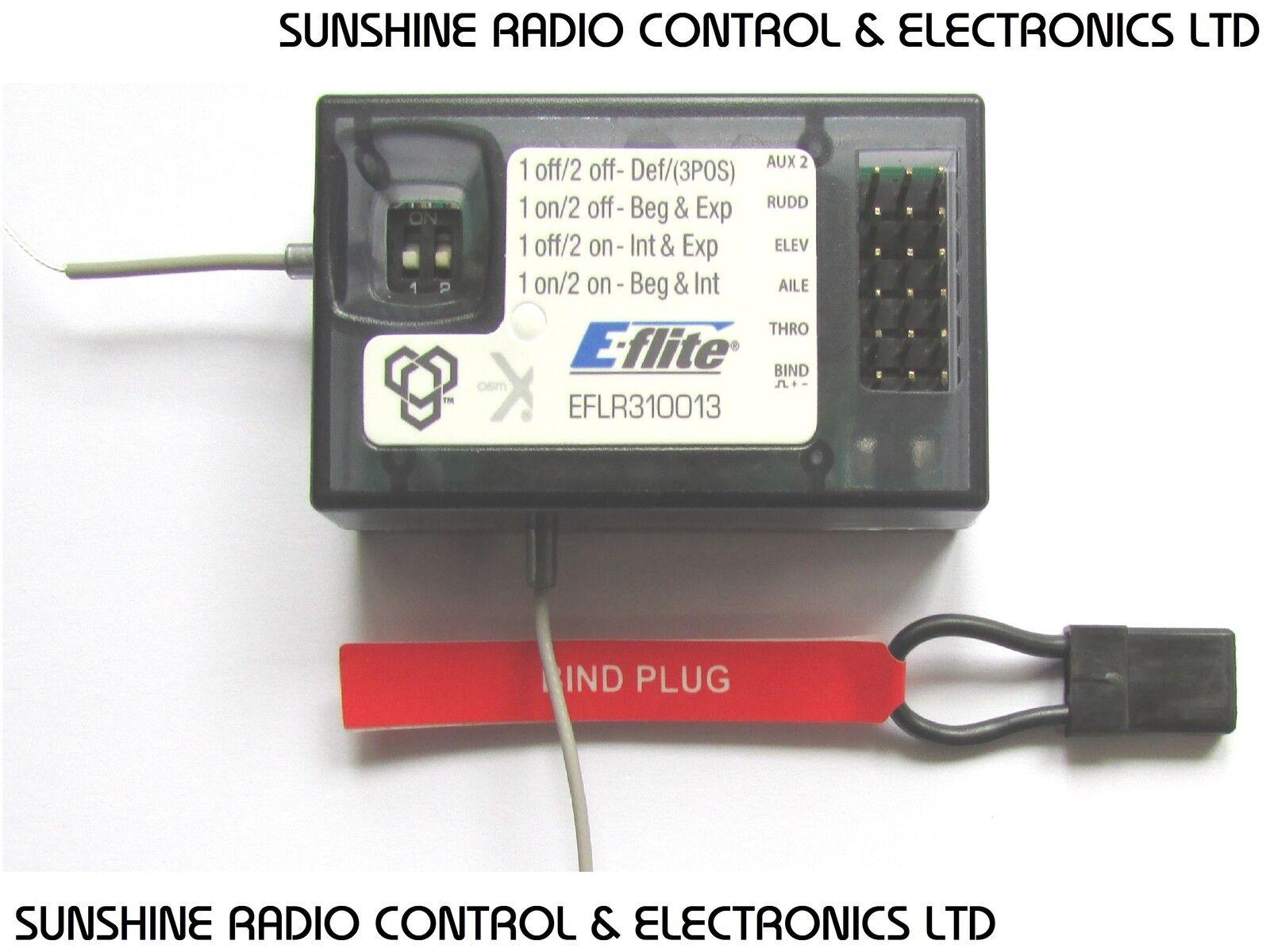Receiver E-Flite SAFE RX Technology EFLR310013 2.4ghz DSMX 5 Channel NEW UK