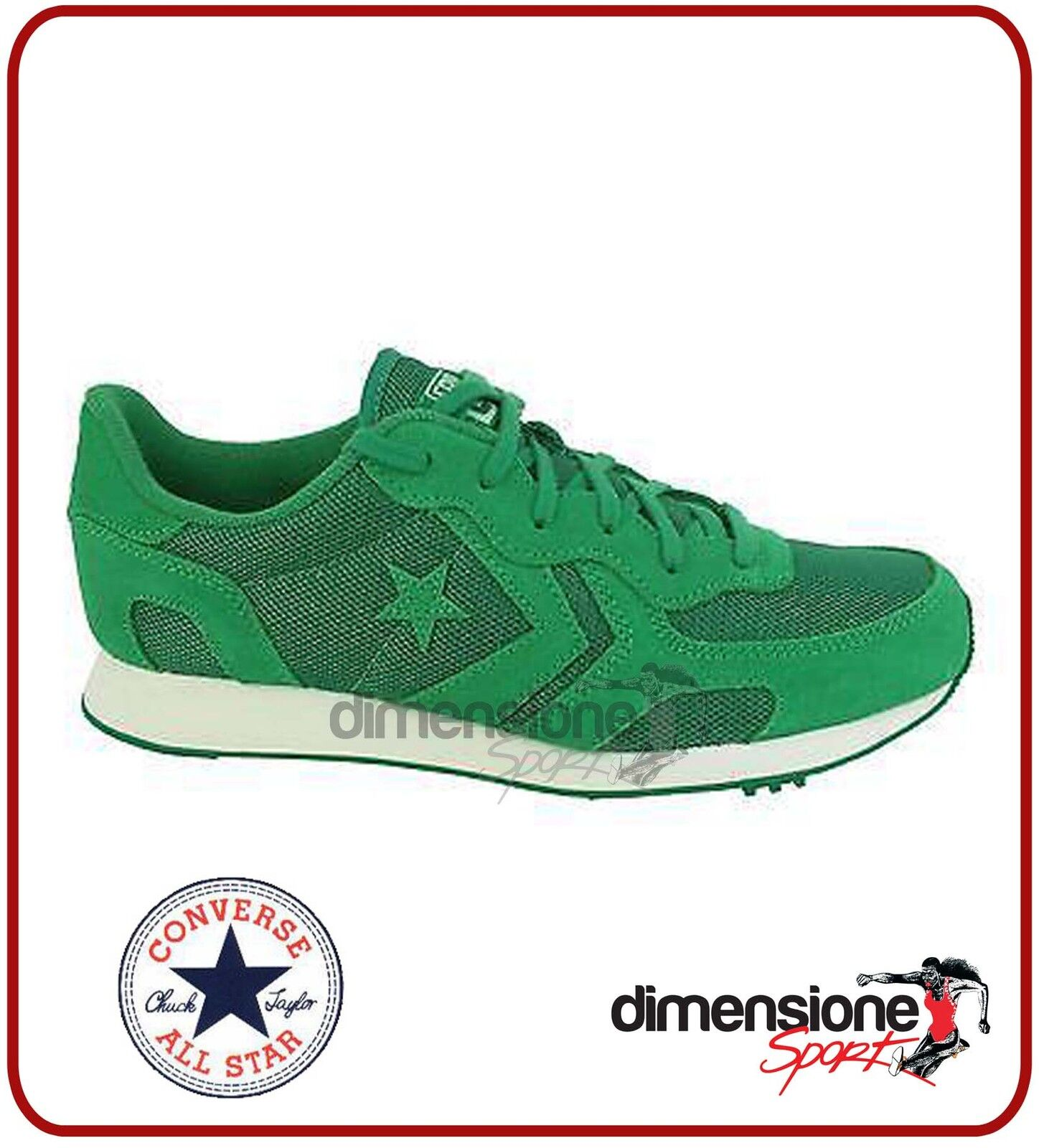 ALL STAR SCARPE CONVERSE 7,5 VERDE TG 40,5 US 7,5 CONVERSE AUCKLAND RACER 152677C SNEAKERS 8bc91e