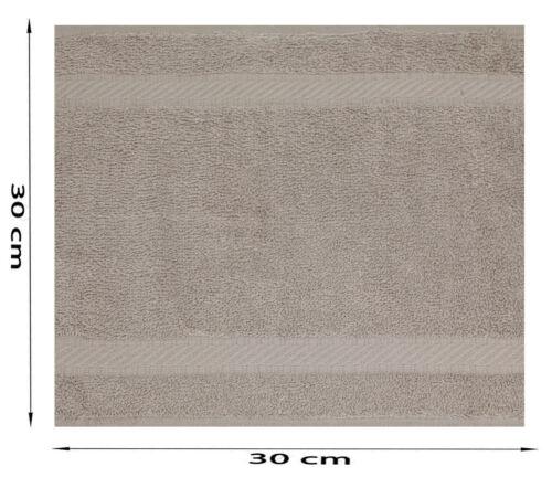 Betz paquete de 10 toallas faciales PALERMO tamaño 30x30cm 100/% algodón