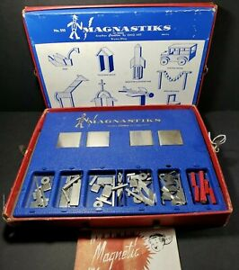Vintage-Ohio-Art-MAGNASTIKS-The-Magnetic-Wonder-Builder-Model-510-113