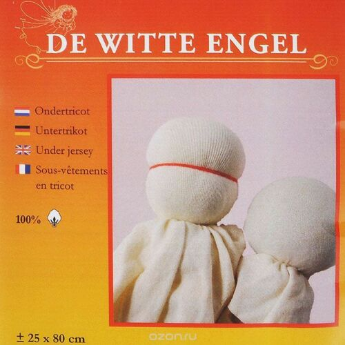 DE WITTE Engel Bambola in Jersey//in tricot//ondertricot//Bambola Waldorf