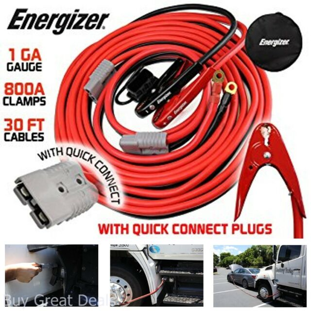 Emergency Booster 2 Gauge 25FT Quick Connect Jumper Cables for All Vehicle Types
