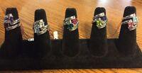 Harley Davidson Women's Crossroads Birthstone Rings By Franklin Mint
