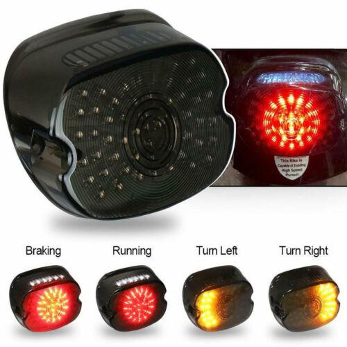 For Harley Tour Road King glide Dyna LED Tail Light Brake Turn Signal Smoke Lens