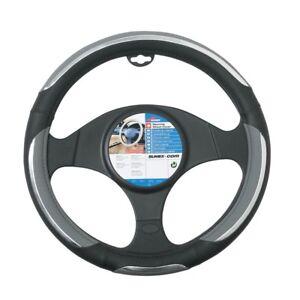 Steering-Wheel-Cover-034-snake-034-37-39-Cms-Grey-black-Car-Glove-Snake-Grey-Black