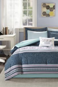 New Girl's Teen 7 Piece Full Size Comforter Set Sheets Sham Bed Skirt Bedding