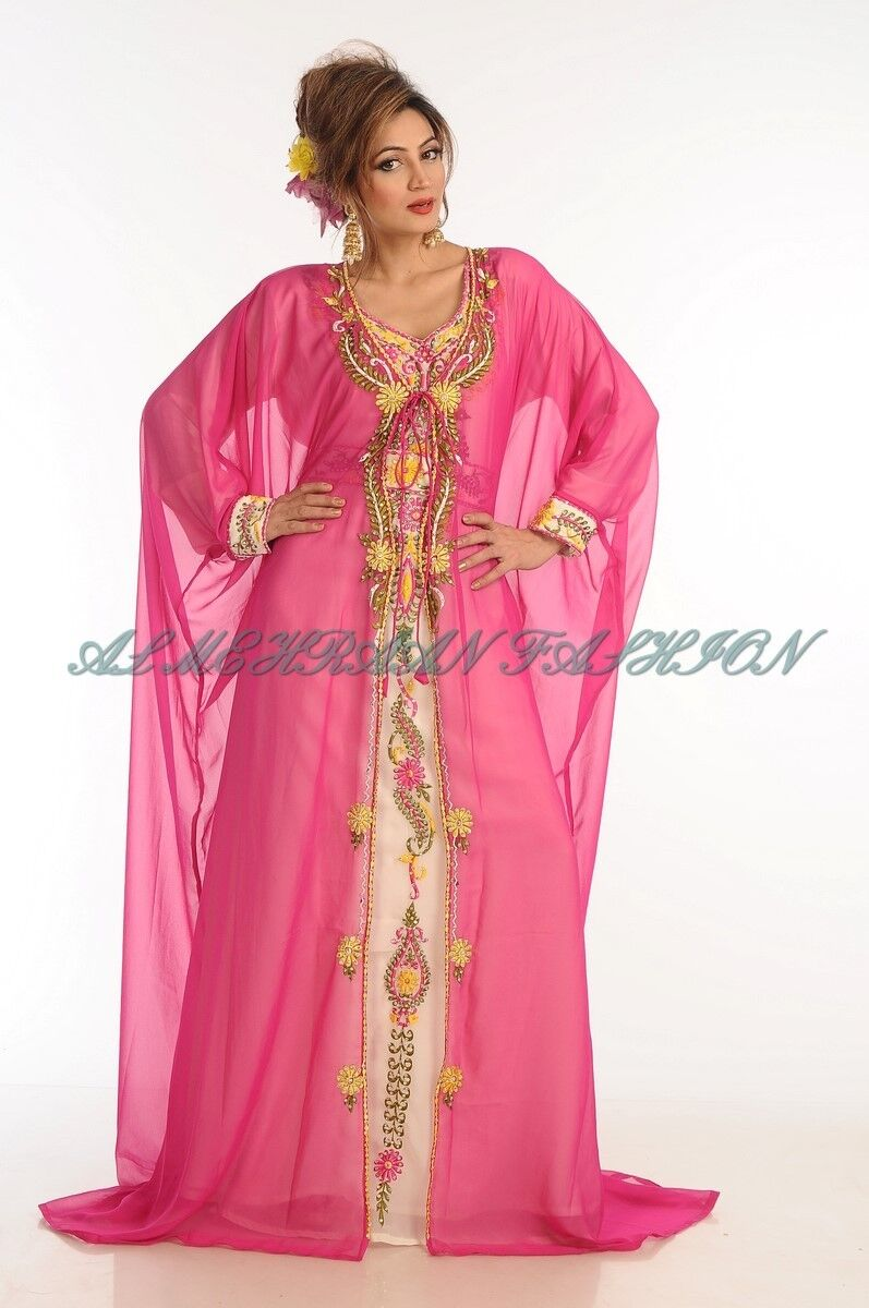 ELEGANT FARASHA FANCY JILBAB ARABIAN DUBAI ABAYA WEDDING WEDDING WEDDING GOWN DRESS 559 ea7129