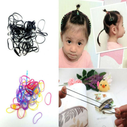 Rubber Hairband Rope Ponytail Holder Elastic Hair Band Ties Braids Plaits 400pcs