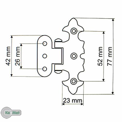 Möbelband Möbelbänder Möbelscharniere Alt Messing 77//25 Asymetrisch