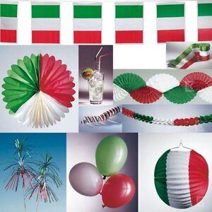 Italien deko party set gr n weiss rot italienische for Italienische dekoration
