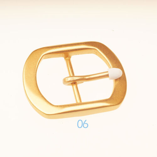 Quality Solid Brass Pin Buckle for Men Women Leathercraft DIY Belt 38//40mm gold
