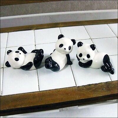 3pcs HASHIOKI japanese chopstick rest cute panda Mino yaki made in japan