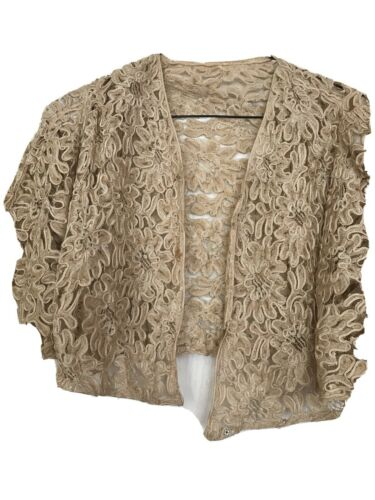 1920's  CROP JACKET FOR DRESS W BELL SLEEVES