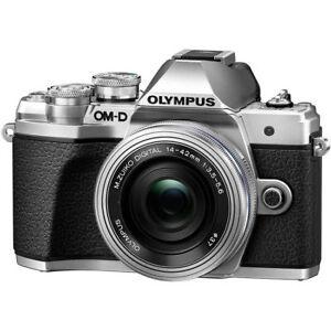 Olympus-OM-D-E-M10-Mark-III-Digital-Camera-w-14-42mm-EZ-Lens-Silver-EX-CR