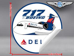 DELTA-AIR-LINES-ROUND-PUDGY-BOEING-B717-B-717-DECAL-STICKER-3-5x3-5in-9x9cm