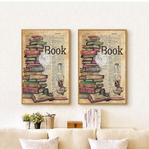 Image Is Loading Modern Book Amp Kerosene Lamp Newspaper Style Living