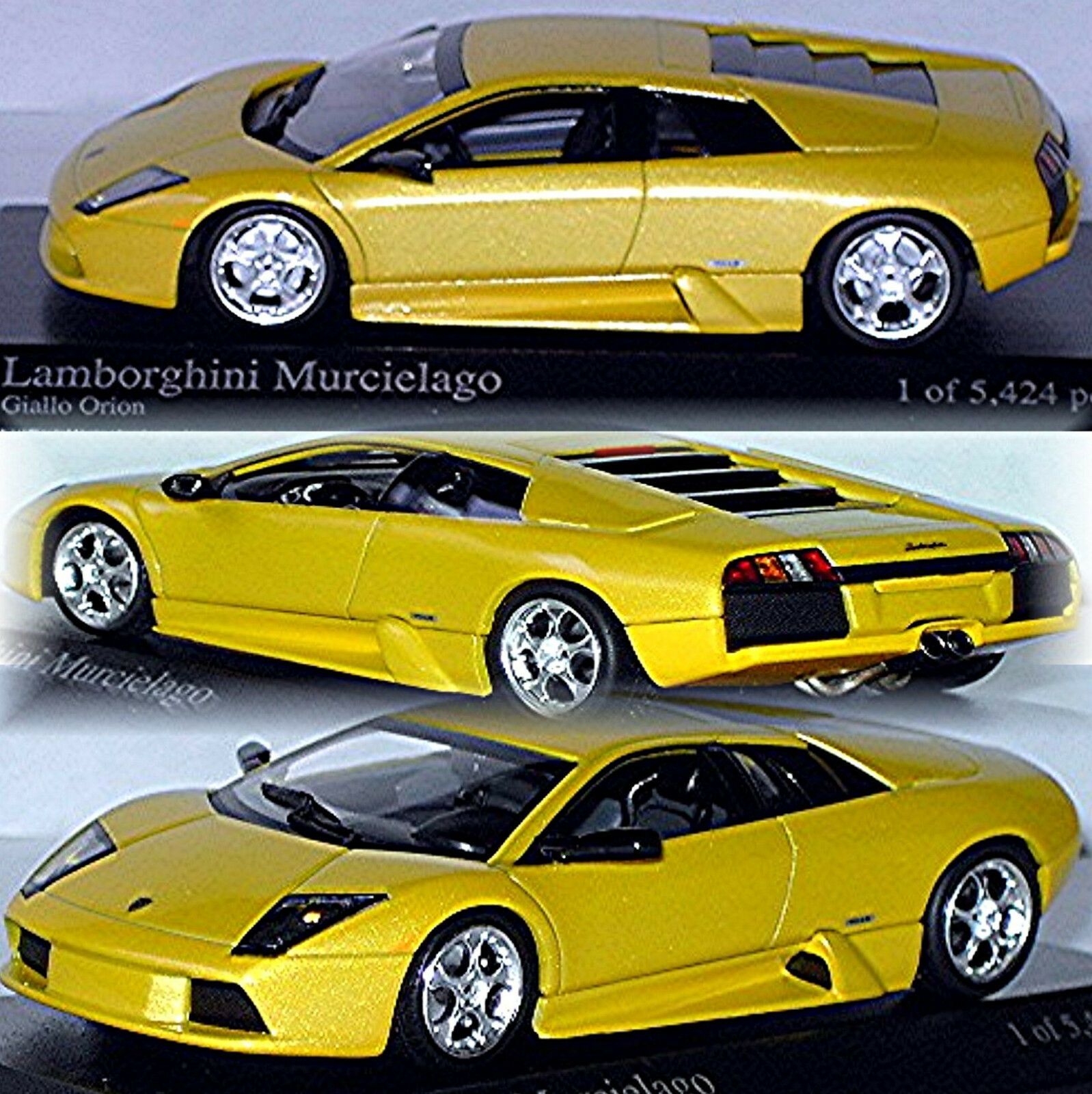 Lamborghini Murcielago Coupe 2004 yellow Orion Orion Orion Yellow Metallic 1 43 Minichamps 3a52e5