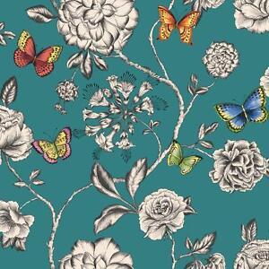 Holden Decor Keilena Motif Fleur Papillon Fleur Rose Motif Papier
