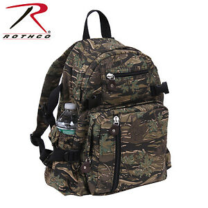 ec57036a8f26 Image is loading Rothco-9720-Vintage-Canvas-Mini-Backpack-Smokey-Branch-